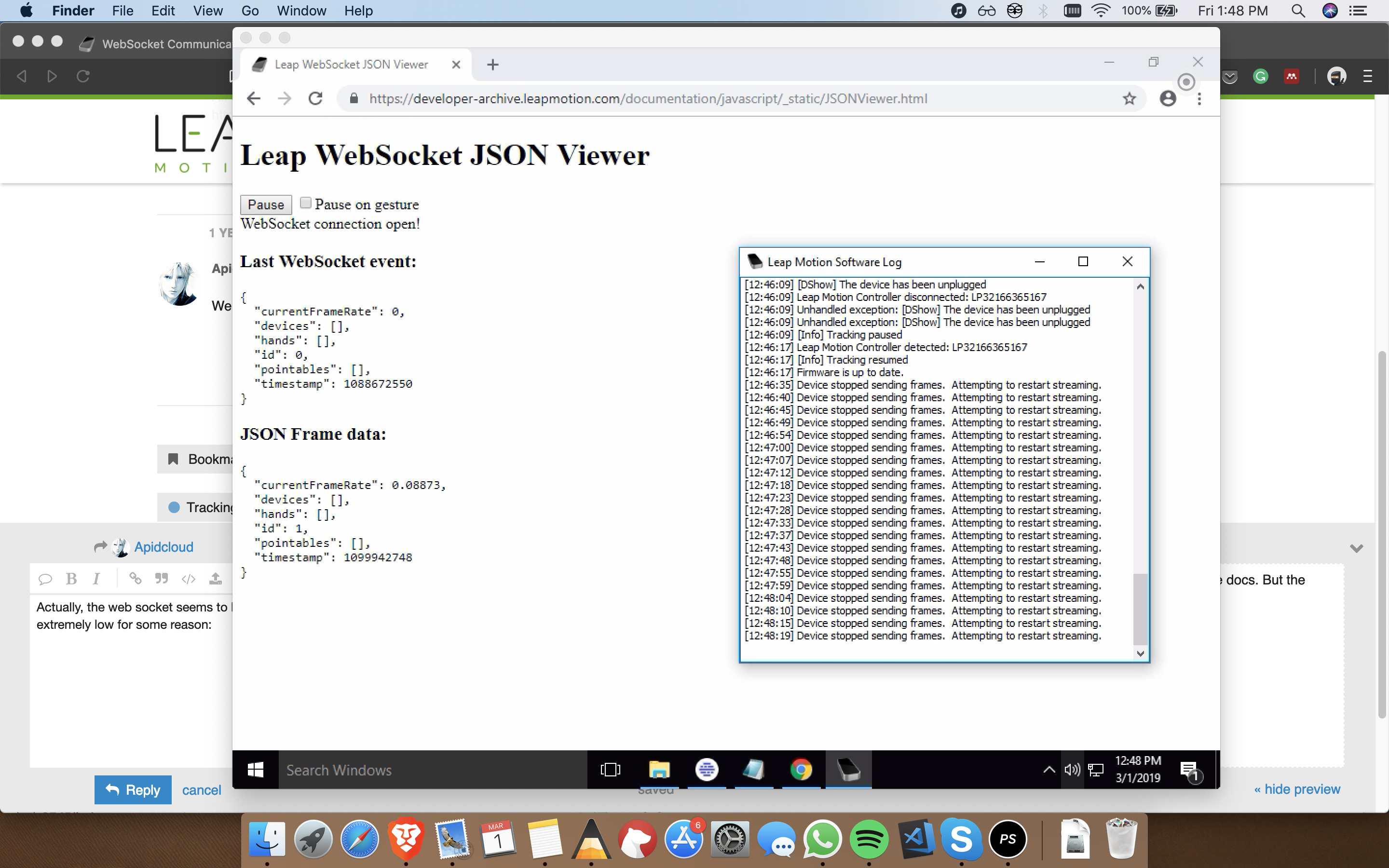 How to change websocket server? - Development - Leap Motion Community